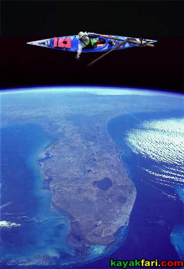 Flex Maslan kayakfari orbit kayak space strauss 2001 odyssey florida art photography fantasy night alien everglades sky