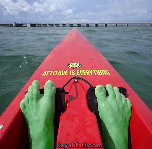 Flex Maslan Kayakfari Fitness Surfski Photography Miami kayak green hulk surf ski paddle attitude is everything incredible