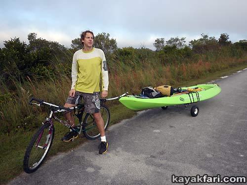 Flex Maslan kayakfari awakenthegrass kayak shark valley everglades paddling tree hammock seagrape sawgrass willoughby key 1898 kayak dolly