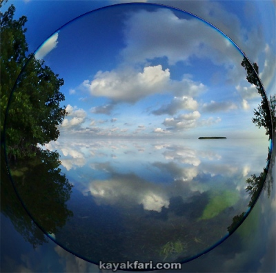 Flex Maslan Kayak Florida Bay Everglades kayakfari little Rabbit Key panorama camp fisheye photography landscape chickees keys 180 view