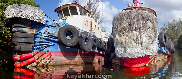 kayakfari art Flex Maslan photography paddle miami river canal kayak lips tug sexy shipyard everglade lipstick red hot tugboat 2015