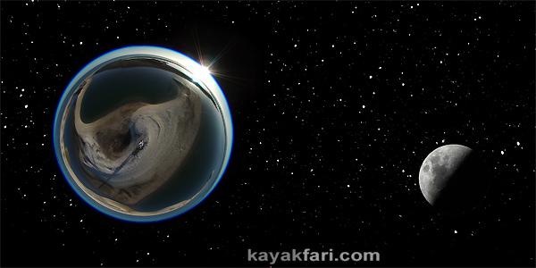 Flex Maslan space kayak art photography kayakfari fantasy fisheye moon night alien everglades sky stars 360 panorama aerial