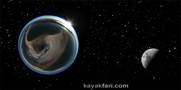 Flex Maslan space kayak art photography kayakfari fantasy fisheye moon night alien everglades sky stars 360 panorama aerial
