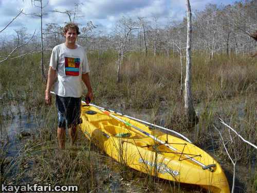 kayakfari Peekaboo fat kayak miami biscayne bay everglades Flex Maslan florida whole lotta Rosie humor fun paddle SUP stand up photography