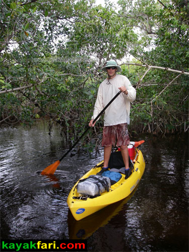 kayakfari Peekaboo fat kayak miami biscayne bay everglades Flex Maslan florida whole lotta Rosie humor fun paddle SUP stand up photography hells