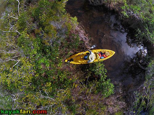 kayakfari Peekaboo fat kayak miami biscayne bay everglades Flex Maslan florida whole lotta Rosie humor fun paddle SUP stand up photography aerial