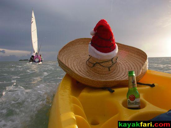 kayakfari Peekaboo fat kayak miami biscayne bay everglades Flex Maslan florida whole lotta Rosie humor fun paddle SUP stand up photography sombrero pilsner