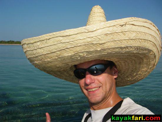 Flex Maslan sombrero kayakfari hat Cinco kayak everglades winterfest miami florida Viva las Fiestas Cinco de Mayo paddle humor fun