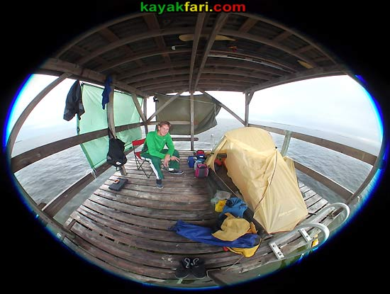 Flex Maslan kayakfari Florida Bay johnson key chickee Kayak Everglades Camp mud flats low tide turtle grass Keys photo fisheye