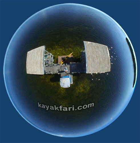 Flex Maslan kayakfari Florida Bay johnson key chickee Kayak Everglades Camp mud flats low tide turtle grass Keys photo aerial fisheye