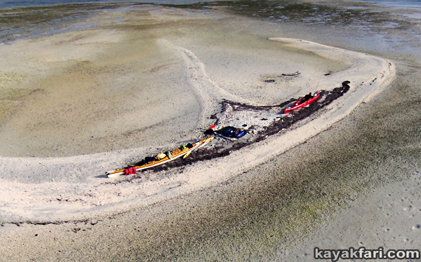 flex maslan kayakfari Barracuda Keys marvin shoal sandbar kayak paddle sugarloaf backcountry beach bay coral reef photography aerial higher ground