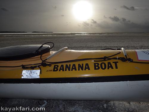 flex maslan kayakfari Barracuda Keys marvin shoal sandbar kayak paddle sugarloaf backcountry beach bay coral reef photography banana boat