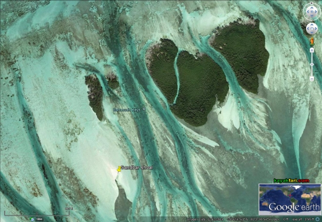 flex maslan kayakfari Barracuda Keys shoal mangrove kayak camp paddle sugarloaf backcountry bay sandbar satellite