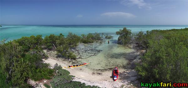 flex maslan kayakfari Barracuda Keys shoal sandbar kayak marvin paddle sugarloaf backcountry beach bay coral reef photography aerial panorama camp