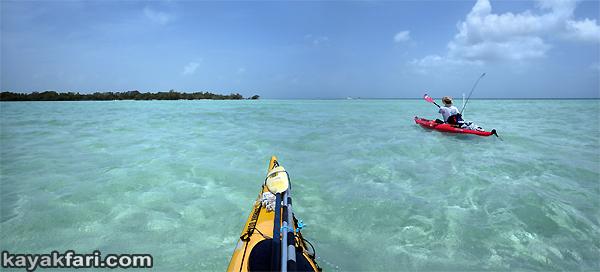 flex maslan kayakfari Snipe Keys marvin shoal sandbar kayak paddle sugarloaf backcountry beach bay coral reef photography panorama