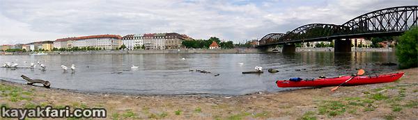 Flex Maslan Prague kayak vltava kayakfari art photography charles bridge czech republic 420 Vysehrad kajak river gothic castle panorama