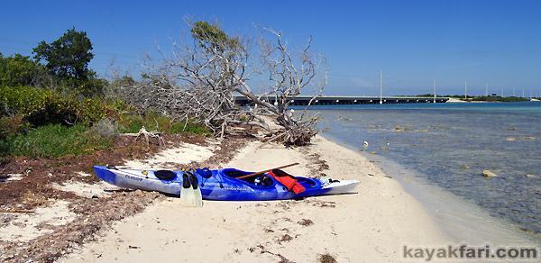 Flex Maslan kayakfari Bahia Honda kayak Keys park camp 7 mile bridge beach coral reef paddle panoramic photography