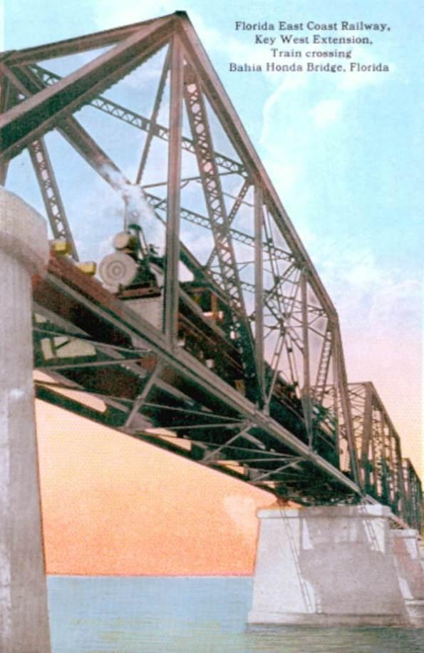 pc1617u floridamemory.com Flex Maslan kayakfari Bahia Honda kayak Keys 7 mile bridge beach coral reef paddle 1910s