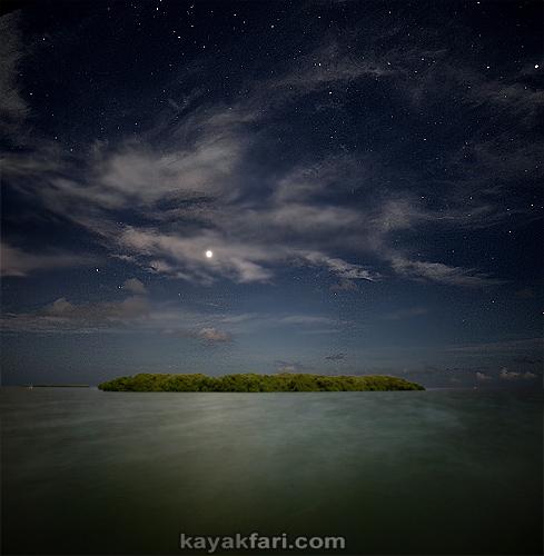 Flex Maslan kayakfari eclipse lunar supermoon high tides chickee kayak johnson keys photography everglades Florida bay venus