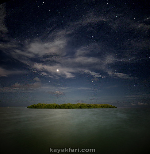 Flex Maslan kayakfari eclipse lunar supermoon high tides chickee kayak johnson keys photography everglades Florida bay venus