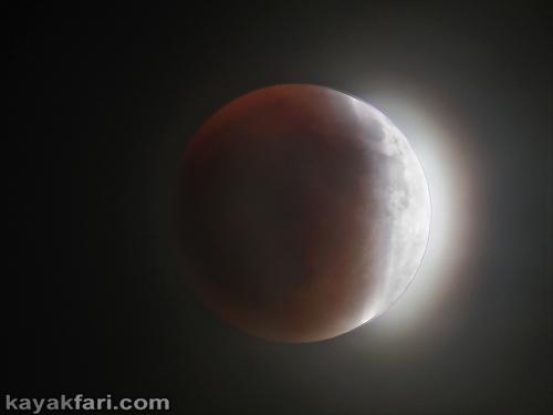 Flex Maslan kayakfari eclipse lunar supermoon high tides chickee kayak johnson keys photography everglades Florida bay bloodmoon totality