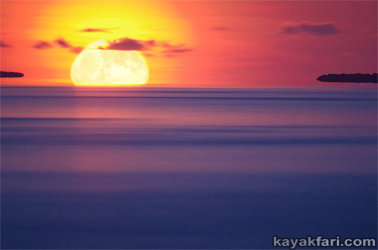 Flex Maslan kayakfari eclipse lunar supermoon high tides chickee kayak johnson keys photography everglades Florida bay bloodmoon