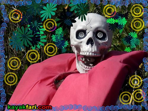 Flex Maslan dia de los muertos kayaking dead kayakfari paddle everglades skeleton halloween photography skull zombie kayak art