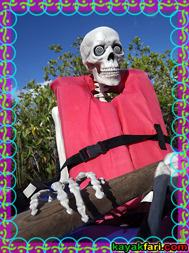Flex Maslan dia de los muertos kayaking dead kayakfari paddle everglades skeleton halloween photography skull zombie kayak art