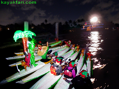 Flex Maslan Kayak Winterfest Boat Parade Christmas lights kayakfari alien Ft Lauderdale Holidays santa sombrero paddle photography 2017