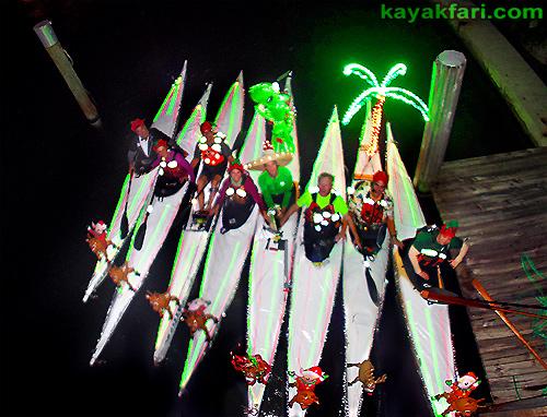 Flex Maslan Kayak Winterfest Boat Parade Christmas lights kayakfari alien Ft Lauderdale Holidays santa sombrero paddle photography 2015