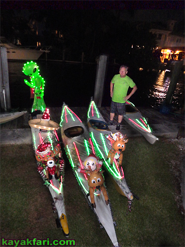 Flex Maslan Kayak Winterfest Boat Parade Christmas lights kayakfari alien Ft Lauderdale Holidays santa sombrero paddle photography whitney turner