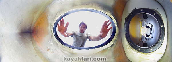 kayakfari flex maslan inside front hatch sea kayak whole seda glider bulkhead storage space banana boat