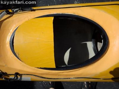 Flex Maslan kayakfari Seda Glider kayak tech hatch enlarge storage lid upgrade bigger oval open access banana boat Miami camp