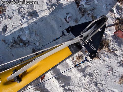 Flex Maslan kayakfari Seda Glider kayak tech rudder repair refurb fix review photo upgrade banana boat Miami Florida