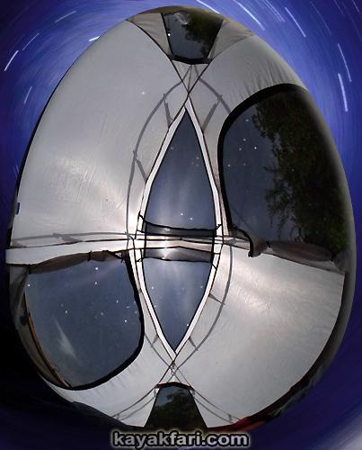 Flex Maslan easter egg decoration everglades kayakfari circular fisheye photography kayak camp panorama 360 art 180 florida awakenthegrass tent stars