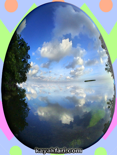 Flex Maslan easter egg decoration everglades kayakfari circular fisheye photography kayak camp panorama 360 art 180 florida awakenthegrass rabbit key