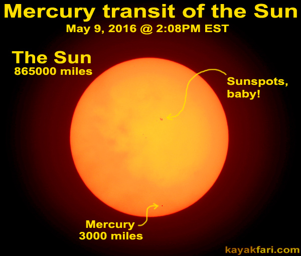 Flex Maslan Kayakfari Mercury transit sun Photography Everglades sunspots 1000mm lens kayak florida bay pentax 5-9-2016