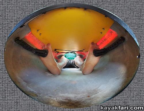 Flex Maslan Kayakfari Underdeck Storage Seda Glider Kayak Tech Inside  Cockpit Shelf Upgrade Miami Florida Banana
