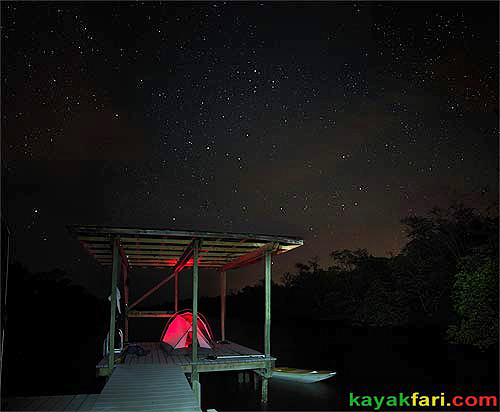 Flex Maslan kayakfari Crooked Creek chickee paddle everglades kayak camping ten thousand islands camp night photography aerial stars
