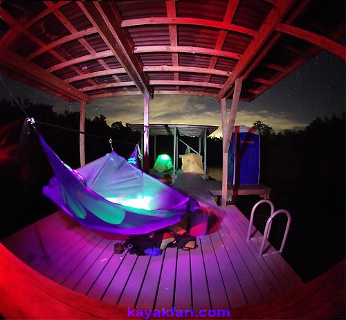 Flex Maslan kayakfari Crooked Creek chickee paddle everglades kayak camping ten thousand islands camp night photography aerial psychedelic hell