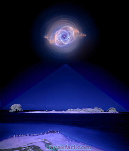 Flex Maslan space kayak art photography kayakfari fantasy night alien everglades sky island nebula strange attractor camp