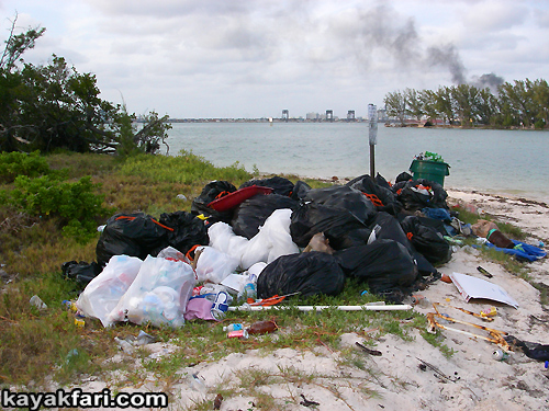 Flex Maslan kayakfari Miami river trash Biscayne garbage Everglades kayak litter dumping pollution environment water quality basura