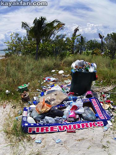 Flex Maslan kayakfari Miami river trash Biscayne garbage Everglades kayak litter dumping pollution environment water quality fireworks fourth july