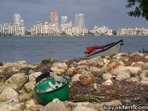 Flex Maslan kayakfari Miami river trash Biscayne garbage Everglades kayak litter dumping pollution environment water quality basura fisher island
