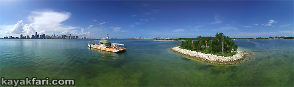 Flex Maslan kayakfari Miami river trash Biscayne garbage Everglades kayak litter dumping pollution environment water quality aerial panorama skyline