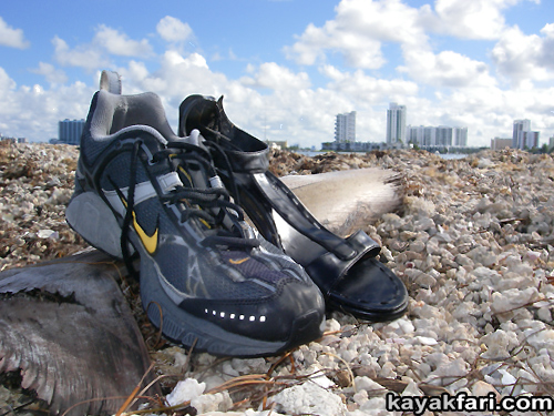 Flex Maslan kayakfari Miami river trash Biscayne garbage Everglades kayak litter dumping pollution environment water quality basura shoes zapatos