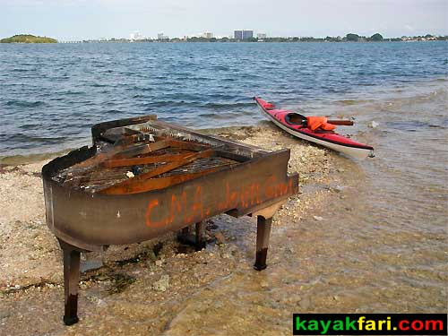 Flex Maslan kayakfari Miami river trash Biscayne garbage Everglades kayak litter dumping pollution environment water quality piano bar
