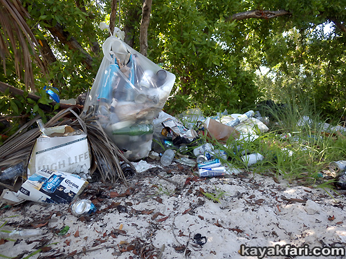 Flex Maslan kayakfari Miami river trash Biscayne garbage Everglades kayak litter dumping pollution environment water quality