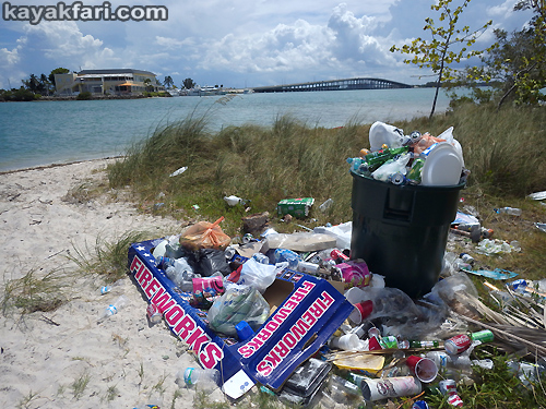 Flex Maslan kayakfari Miami river trash Biscayne garbage Everglades kayak litter dumping pollution environment water quality fireworks fourth july