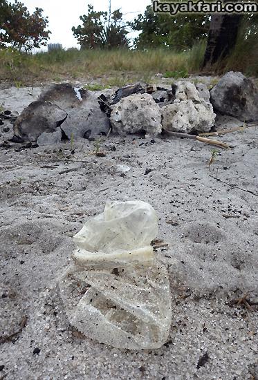 Flex Maslan kayakfari Miami river trash Biscayne garbage Everglades kayak litter dumping pollution environment water quality basura condom